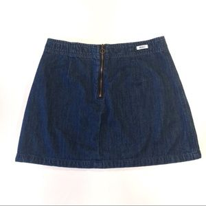 Brandy Melville Zip Front Denim Mini Skirt